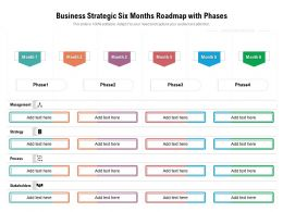 Business Strategic Six Months Roadmap With Phases