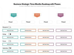 Business Strategic Three Months Roadmap With Phases
