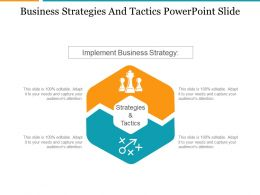 Business Strategies And Tactics Powerpoint Slide