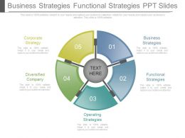 Business Strategies Functional Strategies Ppt Slides