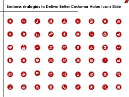 Business Strategies To Deliver Better Customer Value Icons Slide Ppt Powerpoint Presentation Files