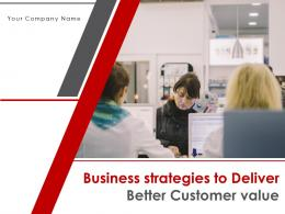 Business Strategies To Deliver Better Customer Value Powerpoint Presentation Slides