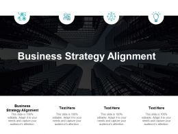 Business Strategy Alignment Ppt Powerpoint Presentation Model Tips Cpb