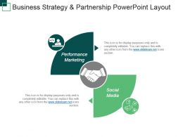 Business Strategy And Partnership Powerpoint Layout