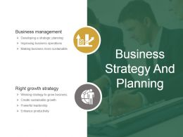 Business Strategy And Planning Example Of Ppt