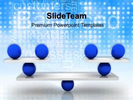 Business Strategy And Policy Powerpoint Templates Balance Teamwork Ppt Slides