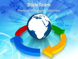 Business Strategy And Policy Powerpoint Templates Lifecycle With Globe Ppt