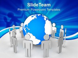 Business Strategy And Policy Powerpoint Templates People Around Globe Ppt Slides