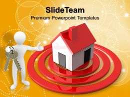 Business Strategy And Policy Templates Person Home Target Ppt Layouts Powerpoint