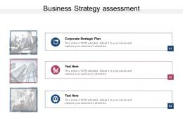 Business Strategy Assessment Ppt Powerpoint Presentation Model Design Ideas Cpb