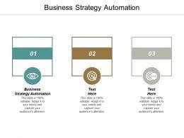 Business Strategy Automation Ppt Powerpoint Presentation Portfolio Professional Cpb