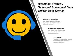 Business Strategy Balanced Scorecard Data Officer Data Owner