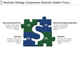 Business Strategy Components Business System Focus Regional Local