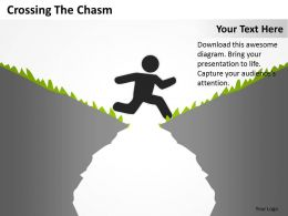 Business Strategy Consultant Crossing The Chasm Powerpoint Templates PPT Backgrounds For Slides 0617