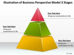 Business Strategy Consultant Model 3 Stages Powerpoint Templates PPT Backgrounds For Slides 0530