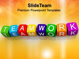 Business Strategy Consultants Teamwork Blocks Shapes Leadership Ppt Slide Designs Powerpoint