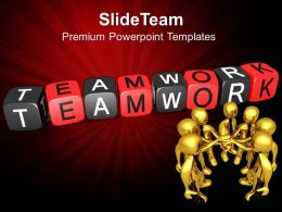 Business Strategy Consultants Templates Teamwork Blocks Chart Ppt Presentation Powerpoint