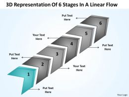 business_strategy_consulting_3d_representation_of_6_stages_linear_flow_powerpoint_slides_0522_Slide02