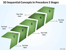 Business Strategy Consulting 3d Sequential Concepts Procedure 5 Stages Powerpoint Slides 0522