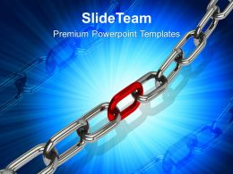 Business Strategy Consulting Chain Teamwork Symbol Ppt Process Powerpoint