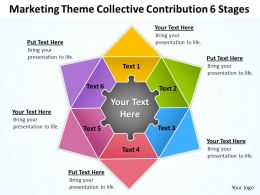 Business Strategy Consulting Contribution 6 Stages Powerpoint Templates PPT Backgrounds For Slides 0530