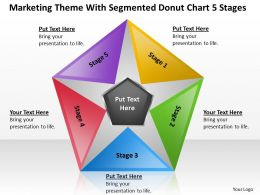 Business Strategy Consulting Donut Chart 5 Stages Powerpoint Templates PPT Backgrounds For Slides 0530