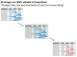 Business Strategy Consulting Weekly Gantt Chart Powerpoint Templates PPT Backgrounds For Slides 0618