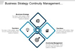 Business Strategy Continuity Management Network Security Product Development Cpb