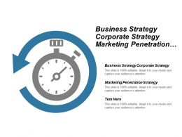 Business Strategy Corporate Strategy Marketing Penetration Strategy Project Management Cpb