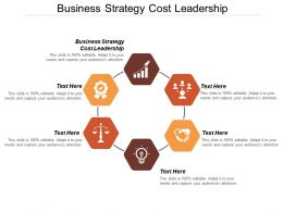 Business Strategy Cost Leadership Ppt Powerpoint Presentation File Summary Cpb