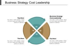 Business Strategy Cost Leadership Ppt Powerpoint Presentation Pictures Slides Cpb