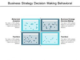 Business Strategy Decision Making Behavioural Analytics Organizational Management Leadership Cpb