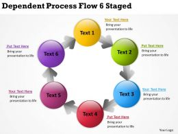 Business Strategy Dependent Process Flow 6 Staged Powerpoint Templates PPT Backgrounds For Slides 0523