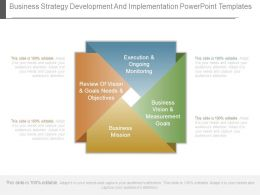Business Strategy Development And Implementation Powerpoint Templates