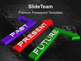 Business Strategy Development Templates Past Present Future Metaphor Ppt Slides Powerpoint
