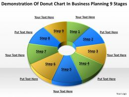 Business Strategy Diagram Planning 9 Stages Powerpoint Templates PPT Backgrounds For Slides