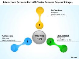 Business Strategy Diagram Process 3 Stages Powerpoint Templates PPT Backgrounds For Slides