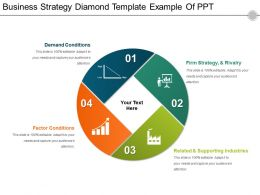Business Strategy Diamond Template Example Of Ppt