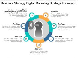 Business Strategy Digital Marketing Strategy Framework Ppt Powerpoint Presentation Cpb