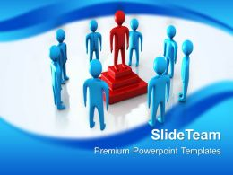 Business Strategy Examples Templates Leader Win Leadership Teamwork Ppt Layouts Powerpoint