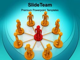 Business Strategy Examples Templates Leadership And Team Growth Ppt Theme Powerpoint