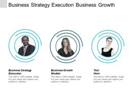 Business Strategy Execution Business Growth Models Product Development Cpb