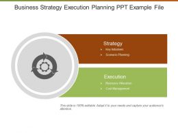 Business Strategy Execution Planning Ppt Example File