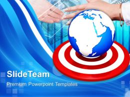 Business Strategy Execution Powerpoint Templates Global Targets Editable Ppt