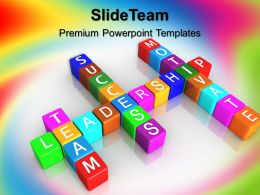 Business Strategy Execution Powerpoint Templates Team Motivate Success Image Ppt Slide