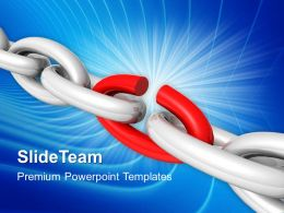 Business Strategy Execution Powerpoint Templates Weakest Link Chains Marketing Ppt Theme