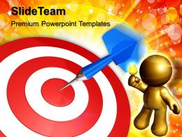 Business Strategy Execution Templates Dart Target Leadership Ppt Powerpoint