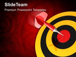 Business Strategy Execution Templates Dart Target Success Company Ppt Slides Powerpoint