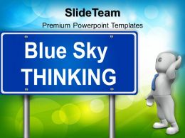 Business Strategy Execution Templates Thinking Signpost01 Metaphor Ppt Theme Powerpoint