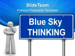 Business Strategy Execution Templates Thinking Signpost Metaphor Ppt Slides Powerpoint